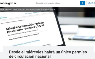 Certificado Único Habilitante para Circulación – Emergencia COVID-19