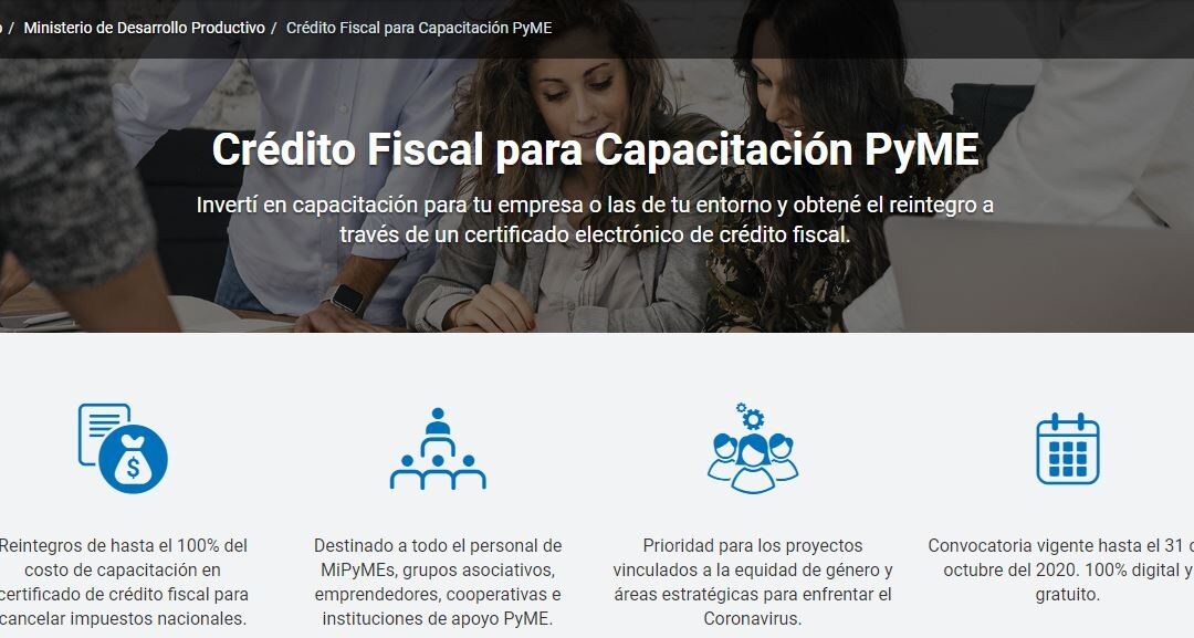 Crédito fiscal a cambio de inversión en capacitación de la Pequeña y Mediana Empresa